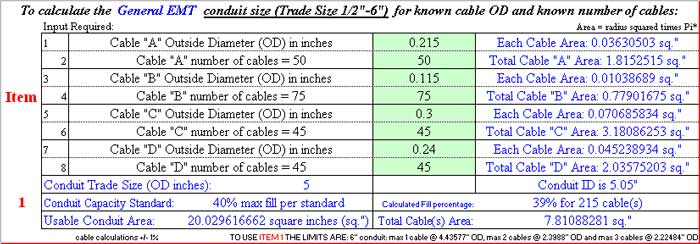 Conduit Size Calculator Cat Image Collections  Wiring Table And